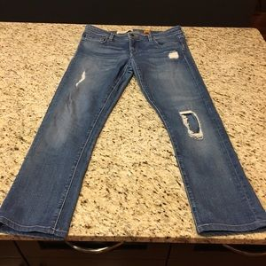 Pilcro and the Letterpress distressed jeans